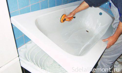 Реставрация ванной акриловым вкладышем