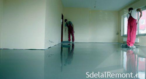 range of self-leveling floor