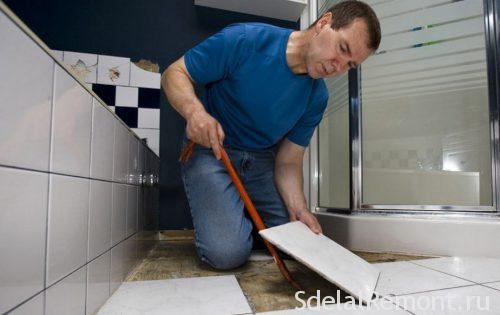 dismantling tiles