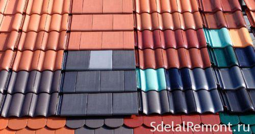 Types of sheet roofing materials
