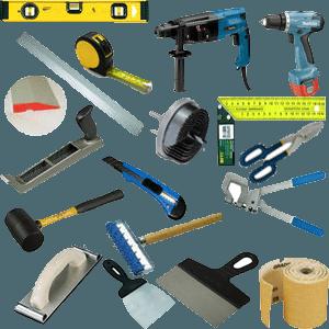 Набор инструментов для гипсокартонного потолка