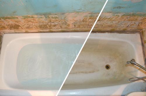 Ремонт чугунной ванны своими руками