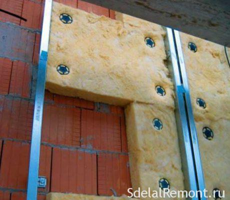 утепление стен изнутри минеральной ватой
