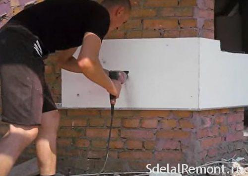 утепление стен пенопластом самостоятельно
