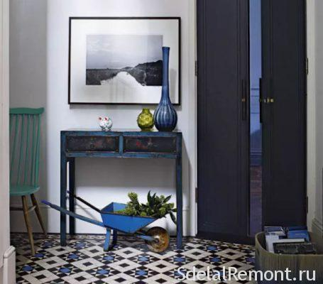 tiles in the hallway on the floor