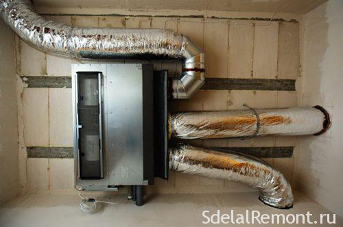установка теплонагревателя