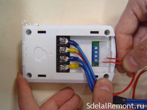подключение терморегулятора к теплому полу