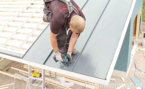 самостоятельный монтаж металлической крыши