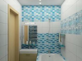 Классическое размещение ванной на 2 кв. м