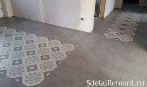 Tile front door