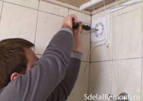 самостійний монтаж вентіляіі у ванній