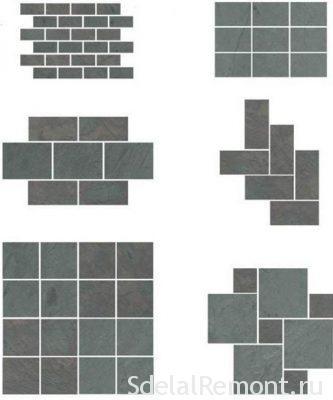 методы укладки плитки