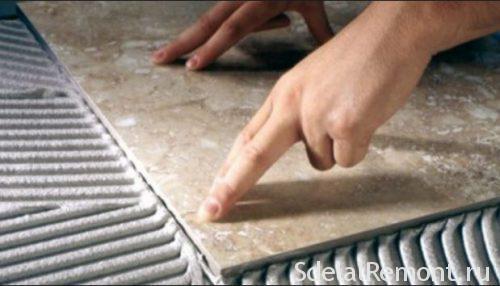 сколько сохнет плитка после укладки