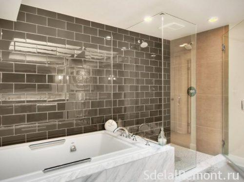 glazed tiles in the bathroom