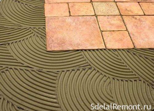 cementitious adhesive for tiles