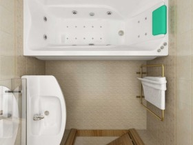 Классический вариант дизайна ванной комнаты