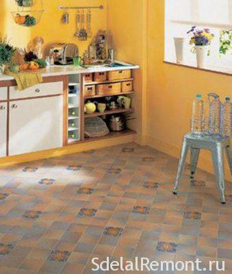 tiles on the kitchen floor