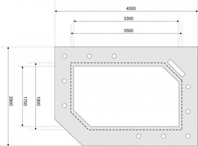 чертеж потолка из гипсокартона с размерами