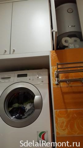 установка стиральной машины над унитазом 3
