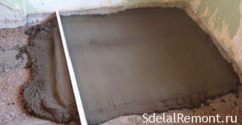 бетонная стяжка перед укладкой плитки