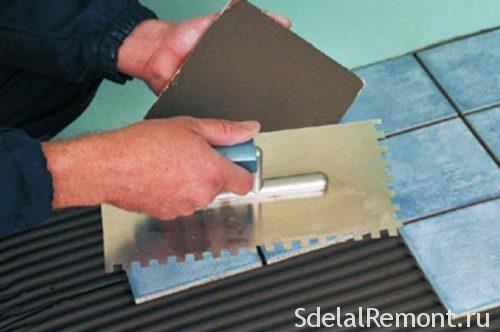 как наносить клей на поверхность