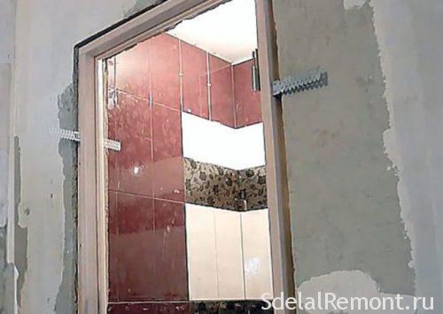 двери в ванную до или после плитки