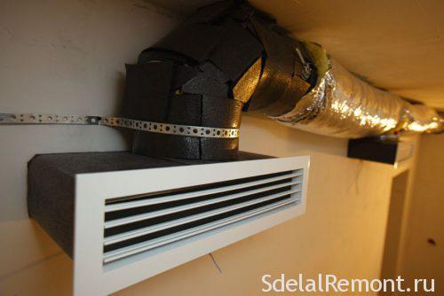 подвесная воздушная система отопления
