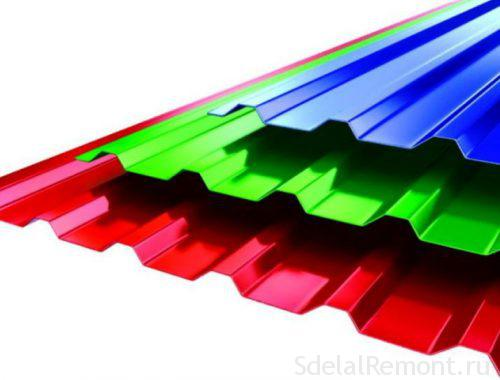 Trapezoidal sheet roofing