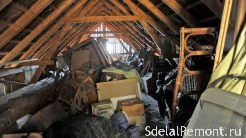 attic cleaning for laying the floor