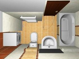 Дизайн очень маленько ванной комнаты