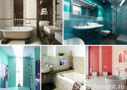 красивые варианты оформления ванной