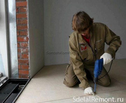 закрепление фанеры на полу
