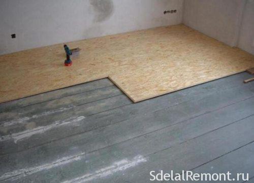 Подготовка деревянного пола под плитку