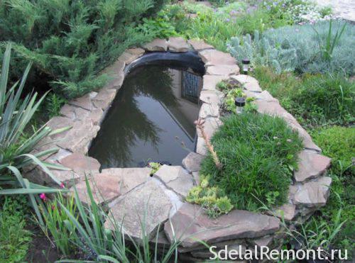 искусственный пруд из ванны самостоятельно