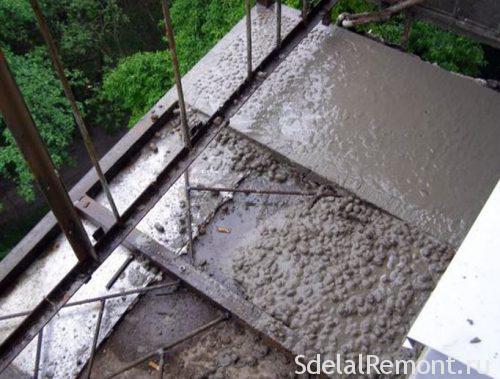 ремонт парапету блкона перед склінням