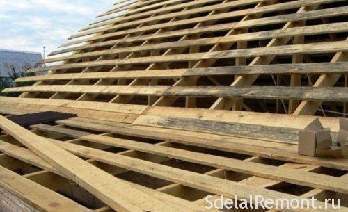 устройство стропил для металической крыши