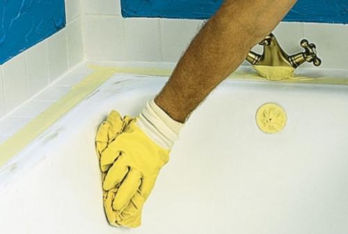 обезжиривание ванны перед ремонтом