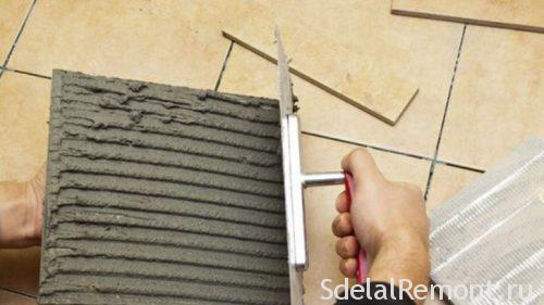 what determines the thickness of the tile adhesive layer
