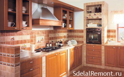 матовая плитка на кухне