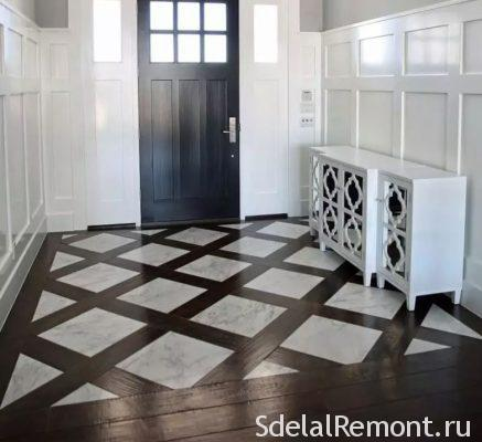 tiles and flooring in the hallway
