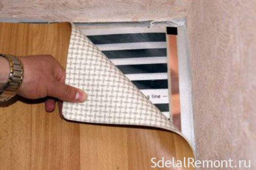 інфрачервона тепла підлога під лінолеум