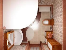 Компактне розміщення всіх елементів вбиральні кімнати