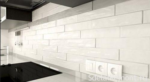 rectangular tile apron