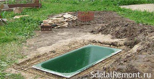пруд из ванны самостоятельно