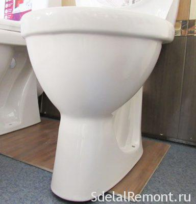 mount the toilet on mastic