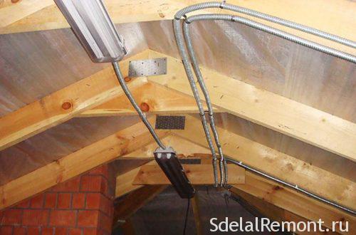 Communications arrangement in the attic