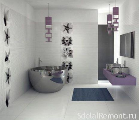 tiles for bathroom in style hi-tech