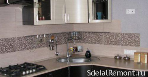 рельефная плитка на кухне