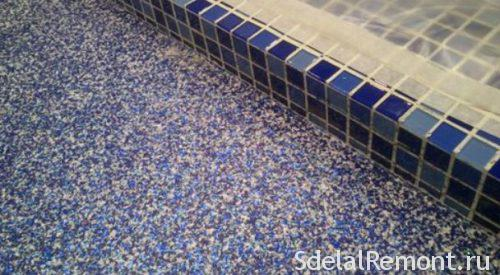 self-leveling floor with decorative chips