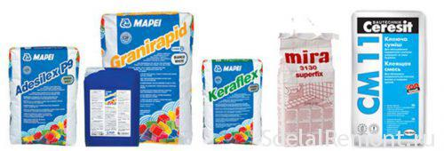 adhesives for tiles